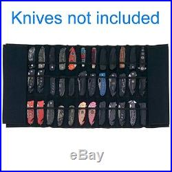Knife Display Roll Case Handle Protect Maxam Padded Nylon Hold 30 Knives Storage
