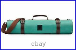 Knife Roll 12 Slot Chef Knife Case Knives Carrying Storage & Pastel Green
