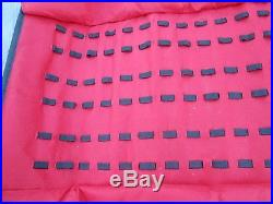 Knife Roll Carrying Storage Case Pack Holds 60 Pocket Knives Vinyl & Buckles RED