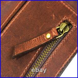 Knife Roll Leather Bag Chef Case Handles Storage Bag