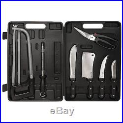 Knife Set Storage Case Portable Camping Kitchen Travel Handle Butcher 10 Piece