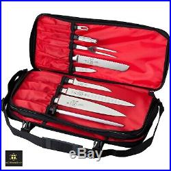 Knife Storage Case Zippered Pouch Pocket Organizer Kitchen Chef Carrying Bag Set
