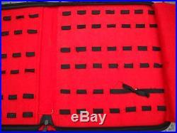 LOT 3 Knife Holder Storage Carrying Case Black Felt Holds 42 Knives GERMAN EYE