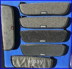 LOT SIX TOM JOHNSON Padded Zipper Bag German Dagger Knife Storage Cases JRB&M