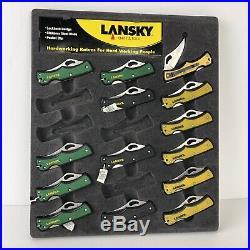 Lansky Pocket Knife Store Display Case 14 Knives Cardboard Display Lkn045 Nos