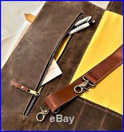 Large Knife Roll Chef Leather Knife Bag Storage Organizer Kitchen Knife Case New
