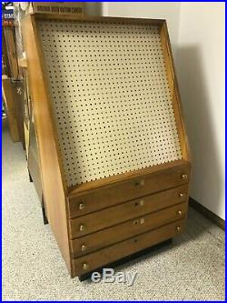 Large Vintage CASE XX CUTLERY Knife Store Floor Wooden Display Case 4 Drawer