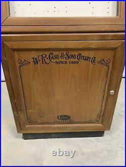 Large Vintage W. R. Case and Sons Case XX Knife Free Standing Store display case