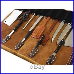 leather knife cases holders protectors roll storage bag elastic