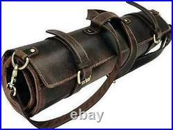 Leather Knife Roll Chef Knife Case Knife Roll Chef Leather Knife Roll Storage