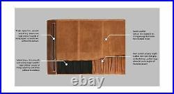 Leather Knife Roll Storage Bag Travel-Friendly Chef Knife Case Roll (VINTAGE)
