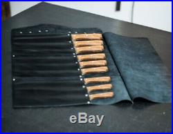 Leather knife roll, Leather knife case, Chef knife roll, Knife storage, leather