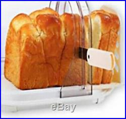 Loaf Bread Storage Case with Slice Guide Paniere METAL C-1097 Japan Tracking