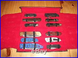 Lot of (12) Knives (New & Used) With Vintage Storage Case