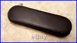 MAXAM Black Marble Handle Folding Blade Straight Razor Knife +Soft Storage Case