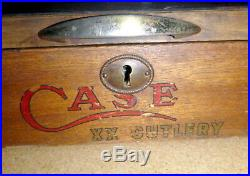 MUST SEE PHOTOS Vintage CASE XX Cutlery Store Counter Top Knife Display