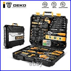 Mechanics Hand Tool Set 208 Piece With Toolbox Storage Case for Household Repair