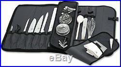 Mercer Culinary 17-Pocket Knife Case Knife Storage Items Knife Cases, Holders &