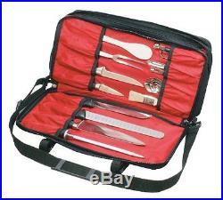 Mercer Culinary Triple-Zip 21-Pocket Knife Case Knife Storage Items Knife Cases