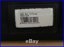 Messermeister 12 Slot Pocket Padded Knife Storage Case NEW Roll Bag NWT Black