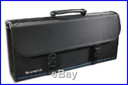 Messermeister 17-Pocket Knife Case with Large Storage Pocket Black