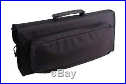 Messermeister 17-Pocket Knife Case with Large Storage Pocket, Black