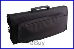 Messermeister 17-Pocket Knife Case with Large Storage Pocket, Black New