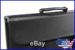 Messermeister 17-Pocket Knife Case with Large Storage Pocket, Black, New, Free S