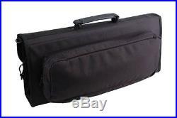 Messermeister 17-Pocket Knife Case with Large Storage Pocket, Black, No Tax, Fre