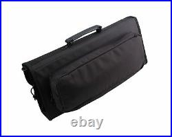 Messermeister 17-Pocket Knife Case with Large Storage Pocket, Luggage Grade a