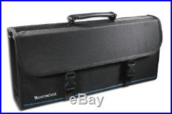 Messermeister 17-Pocket Knife Case with Large Storage Pocket, Luggage Grade and