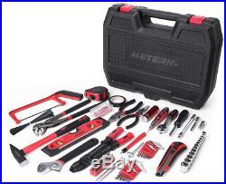 Meterk 170 Pcs Home Tool Kit Household/Auto Repair Mechanic Toolbox Storage Case