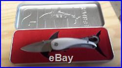 NEBO Shark Knife, in metal storage/display case