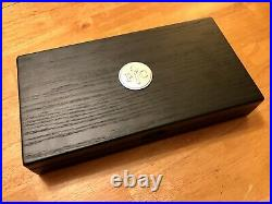 NEW! Pampered Chef Steak Knife Set with Magnetic Closure Wood Storage Case #1581