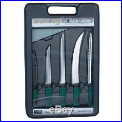 NEW Sportsman Fishing & Hunting Knife withStorage Case (6-Piece) 801613 Set Lot