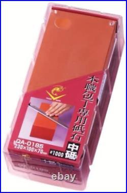 Naniwa Honshoku knife special whetstone (medium grit stone) in a storage case