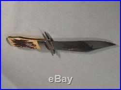 Near Mint 2002 Case XX 6.5111 1/2l Ss Cheetah Bone Stag Knife With Storage Box