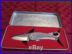 Nebo Shark Knife in Metal Storage Tin/Display Case