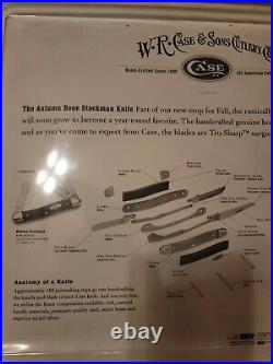 New 2002 CASE XX 6318, THE AUTUMN BONE STOCKMAN KNIFE, IN STORE PACKAGING #CG365