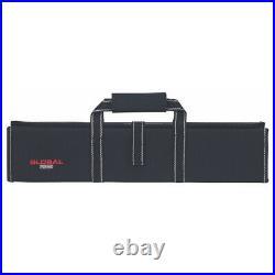 New Global Knives Hard 11 Pocket Knife Case Bag G-667/11 Black