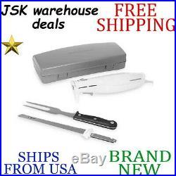 New HAMILTON BEACH Stainless Steel ELECTRIC KNIFE SET SET w Storage Case