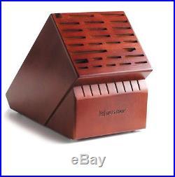 New Kitchen Dark Brown Hardwood Knife Block Storage Case Display with 35 Slots