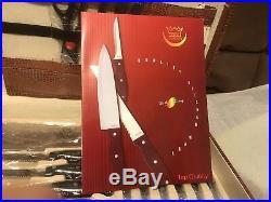 New Royal Germany 24pc Kitchen Knife Set In Leather Storage Case