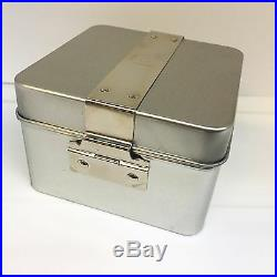 New WENGER SWISS Army Knife Original Watch Box Silver Stainless Steel