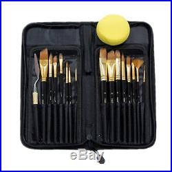 Painting Tools Paint Brushes Watercolor Palette Knife Sponge Storage Case Kit