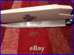 Pampered Chef 8 Chefs Knife In Self Sharpening Honing Storage Case Holder