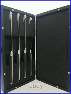 Pampered Chef Steak Knife Set with Magnetic Closure Wood Storage Case 1581
