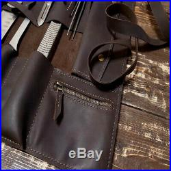 Personalized Roll Knife Chef Storage Bag Case Genuine Leather Handmade