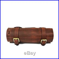 Personalized Roll Knife Genuine Leather Bag Chef Case Storage Handles Handmade