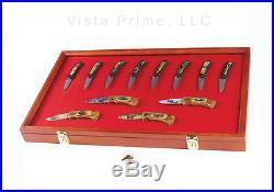 Pocket Knife Display Case Acrylic Window Knife Storage with Locking Closures